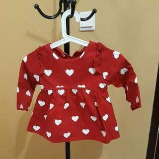 Atasan Merah Top Girl Size 4 Tahun