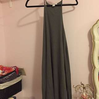 Green Ribbed Midi Dress