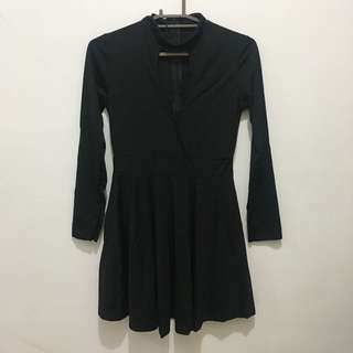 Skater Dress With Front Cut