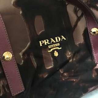 Prada Fabric Print Handbag