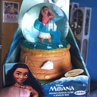 Moana Musical  Snow Globe Jewellery Box