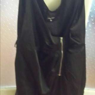 city chic leather look alike dress new size large never worn