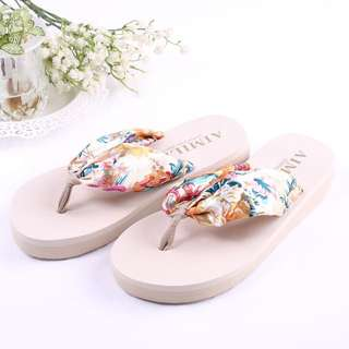 BNWT Floral Slippers