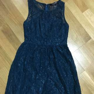 Teal lace dress, size 8