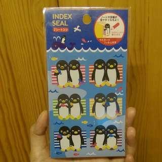 [包郵]日製可愛企鵝分頁貼紙