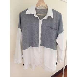 ✨二手衣物✨ 拼接襯衫