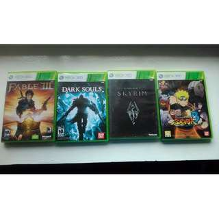Xbox 360 games (asian version)