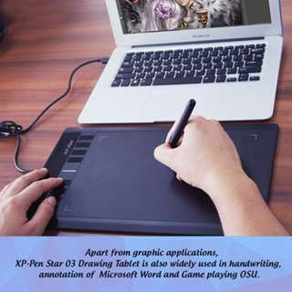 """XP-PEN Star03 12""""Graphic Drawing Tablet for Digital Drawing (Pen Pressure 2048)"""