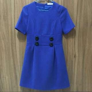 韓國 短袖 厚款 洋裝
