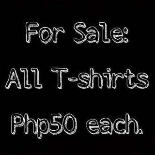 FOR SALE!!! REPRICED ALL TSHIRTS