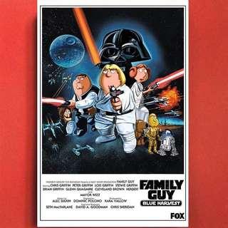 Family Guy X Star Wars Wall Art