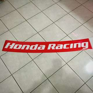 Authentic Honda Racing Windscreen Sticker For Civic FD's