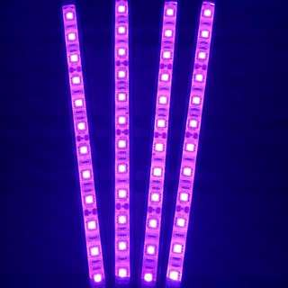 Car Interior 12 Bulb LED Strip Car Seat Under Seat Floor Decor Style - Pink