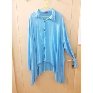 Blue Sky Batwing Shirt unbranded