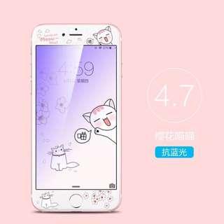 蘋果手機保護貼~櫻花喵喵