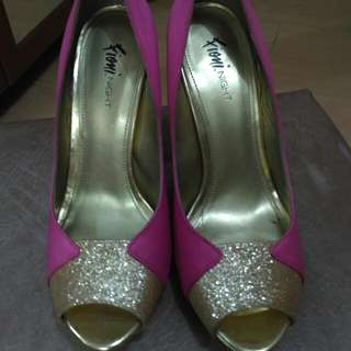 Fioni - Pink Gold Heels Size 7,5 (38)