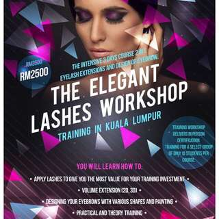 Eyelash extension training course Promo Price