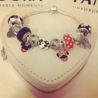 Disney Mickey And Minnie Pandora Bracelet