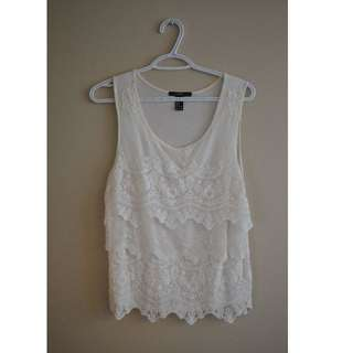White lace top from Forever 21