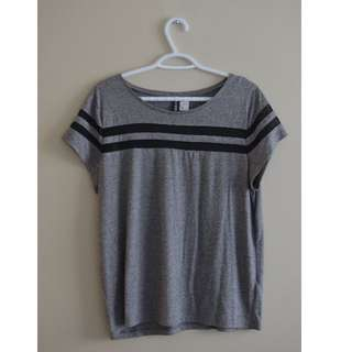 Grey top with mesh details from H&M