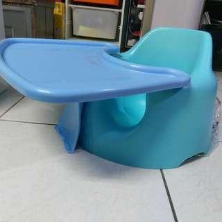 韓國Jellymom幫寶椅(藍)附餐桌
