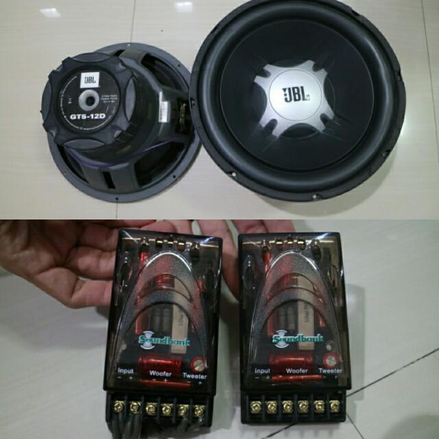 2 Buah JBL Subwoofer 12inch GT 5 2 Buah Power Audio Merk.Symbion Dan Critical Mass 2 Buah Sound Bank Kondisi Masih Sangat Bagus Dan Berfungsi 100% Take All Fix Price