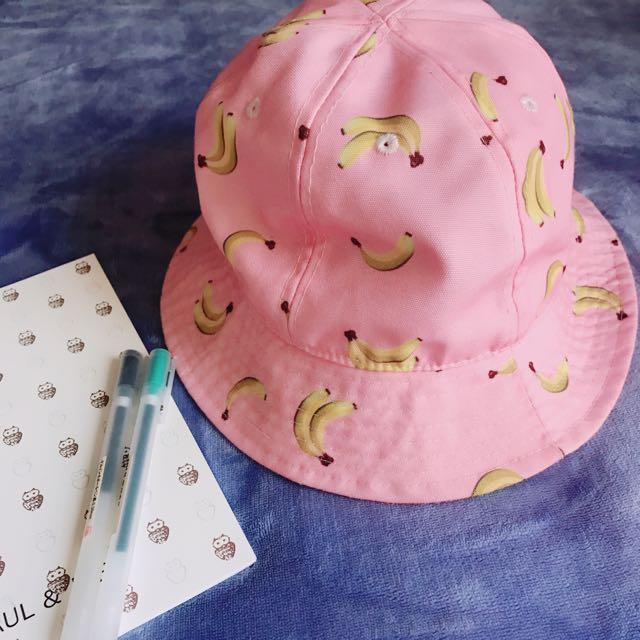 粉色香蕉漁夫帽