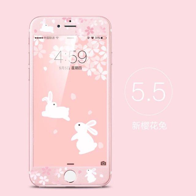 蘋果手機保護貼~櫻花兔