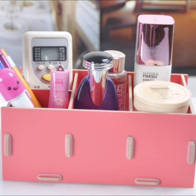 木質組合收納盒 DIY化妝品保養品收納