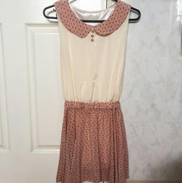 🎀 Peter Pan Collar Floral Vintage Dress Size 6-10