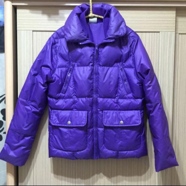 A La Sha 風格紫色羽絨可愛澎澎外套