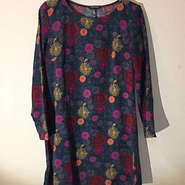 American Apparel Crepe Floral Dress