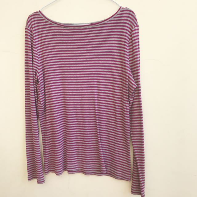 American Eagles Purple Stripped Longsleeve