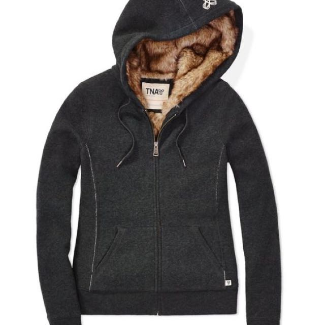 Aritzia TNA Pacific lined Faux Fit Hoodie Jacket NEW