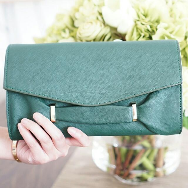 Audrey Green Clutch By Legra.id (Tas, Clutch, Formal, Casual, Hijau)