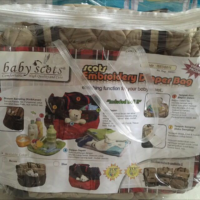 Baby Scots Embroidery Diapers Bag ORI