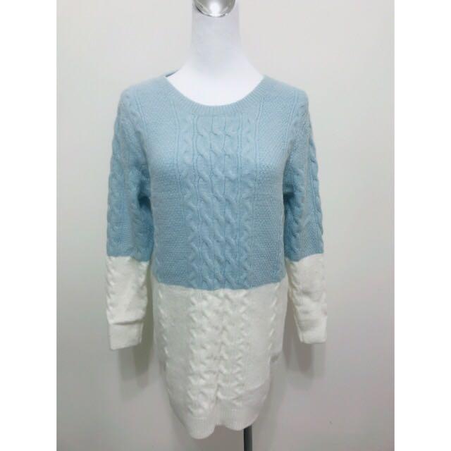 Babyblue藍白毛衣