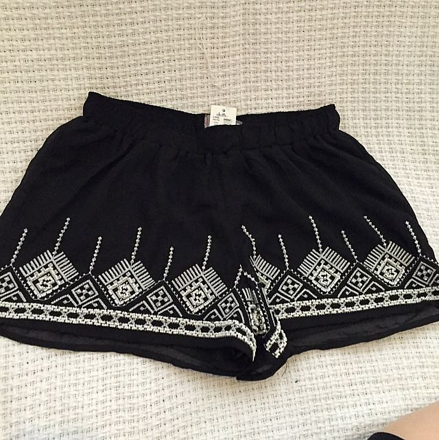 Black DOTTI Short With Beading