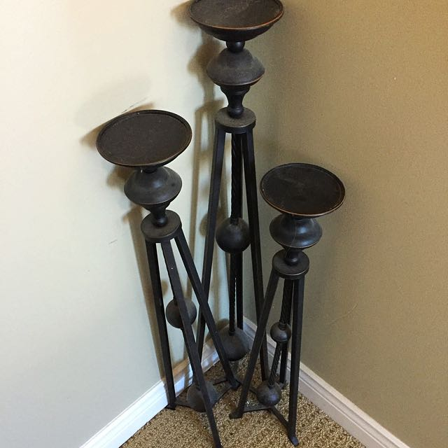 Candle Holder Set - Free Standing For Floor