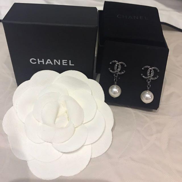 Chanel耳針垂吊耳環