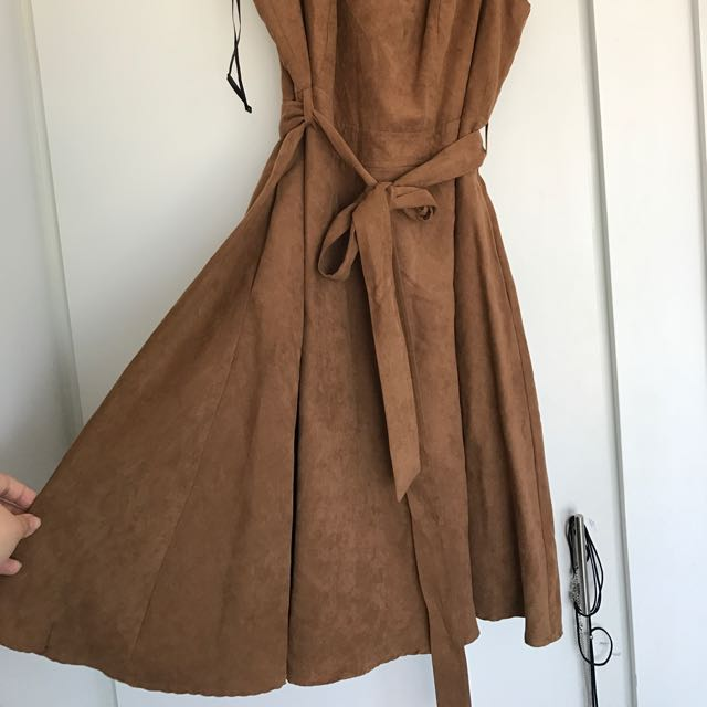 City Chic Suede Dress