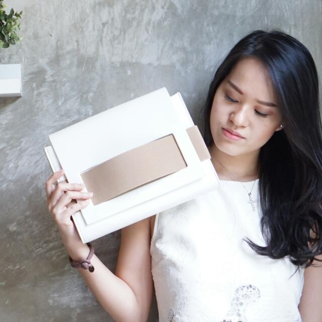 Clara White Clutch By Legra.ID (Clutch, Tas, Bag, Tas Pesta, Tas Kasual)