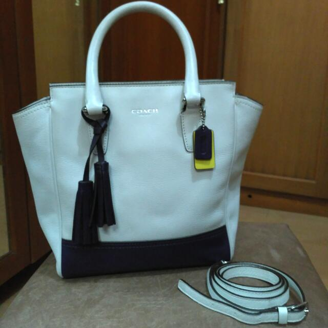 Coach White Tote (Small)