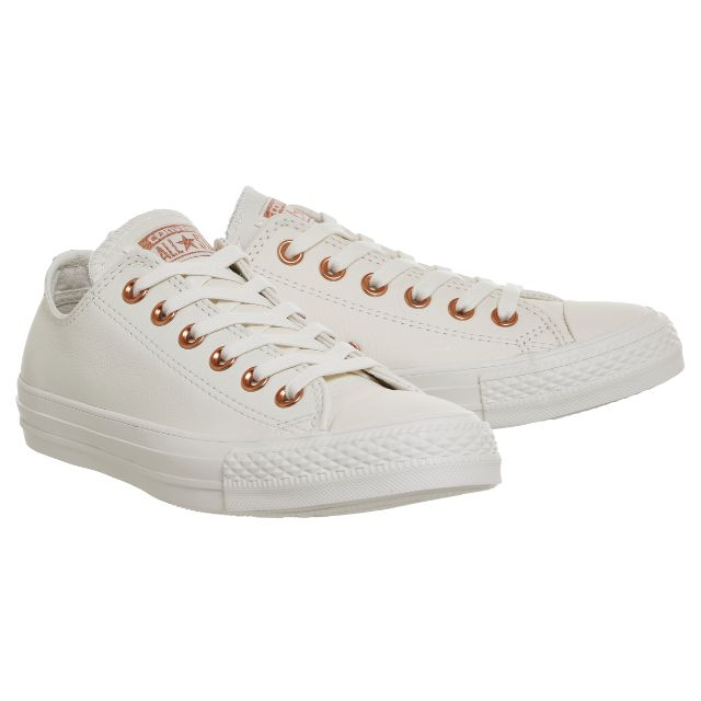 fc716a456a7e Converse All Low Leather Trainers - (Limited Edition Spring Blossoms  Exclusive) - Egret vapour pink