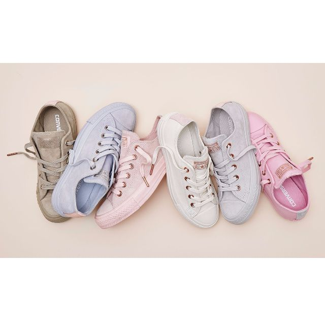 dc38ff02511e Converse All Low Leather Trainers - (Limited Edition Spring Blossoms  Exclusive) - Porpoise vapour pink
