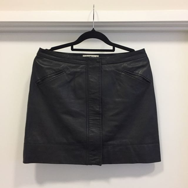 Country Road Leather Skirt