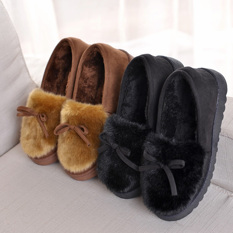 [PRE ORDER] Cozy and Warm Flat Shoes for Winter