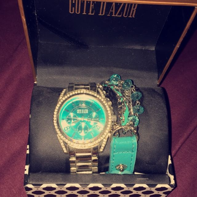 Côte D'Azur Women's Watch Aqua Blue