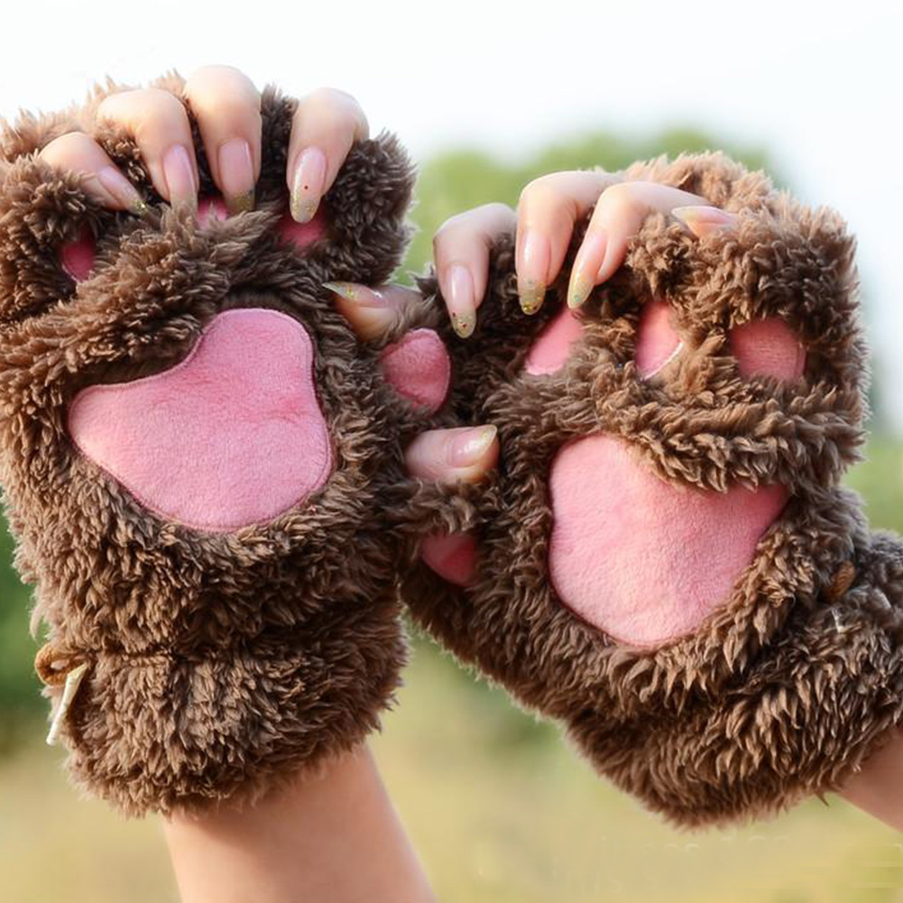 [PRE ORDER] Cute Bear Paw Winter Gloves