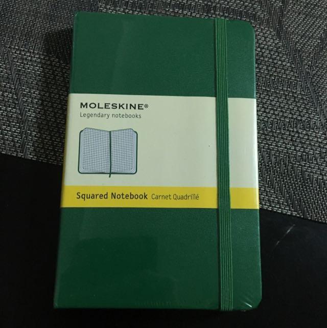Dark green pocket Moleskine